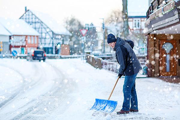 schnee nachbargrundstück schieben
